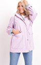Waterproof Hooded Festival Rain Mac Coat Baby Pink by LILY LULU FASHION