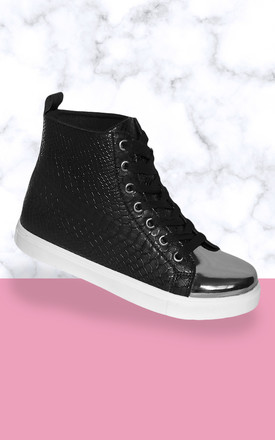 The Snake Black trainers by Miss Red