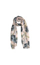 Dahlia Print Scarf in Pink by White Leaf