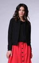 Bomber Jacket with Open Front in Black by Bergamo