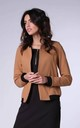 Bomber Jacket with Open Front in Camel by Bergamo