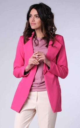 Classic Jacket with Pockets in Pink by Bergamo