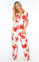 White Floral print Jumpsuit by Dressed In Lucy