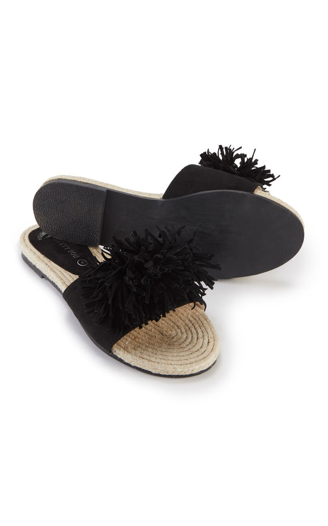 Tassel Sandals in Black by Pretty You London