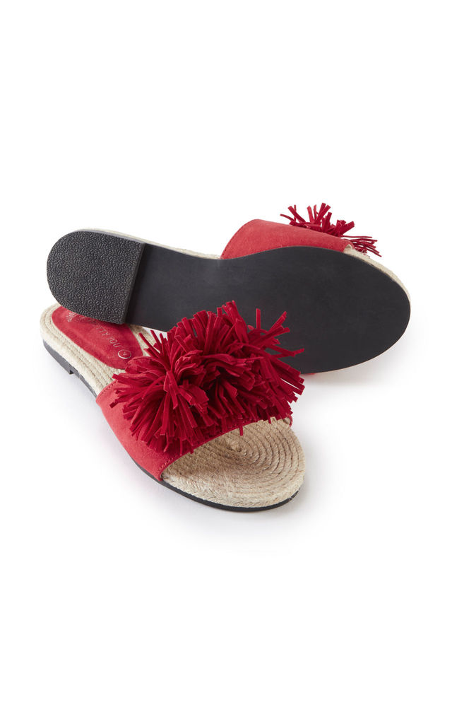 Tassel Sandals in Red by Pretty You London