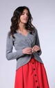 Wrap Sweater with Long Sleeves in Dark Grey by Bergamo