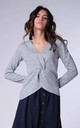 Wrap Sweater with Long Sleeves in Grey by Bergamo