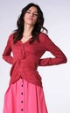 Wrap Sweater with Long Sleeves in Red by Bergamo