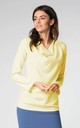 Long Sleeve Top with Cowl Neck in Yellow by Bergamo