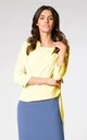 Asymmetric Top Tied on the Side in Yellow by Bergamo