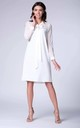 Midi Dress with Mesh and Tied at Neck in White by Bergamo