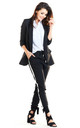 Loose Trendy Long Sleeved Jacket in Black by AWAMA