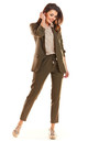 Loose Trendy Long Sleeved Jacket in Khaki by AWAMA
