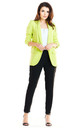 Loose Trendy Long Sleeved Jacket in Lime by AWAMA