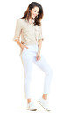 Casual Trousers with Pockets in White by AWAMA