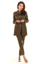 Bound Trench Jacket with Gold Buttons in Khaki by AWAMA