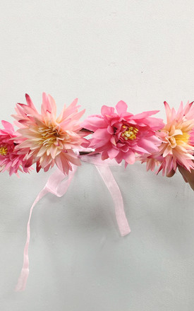 Summer Floral Headband in Pink by CY Boutique