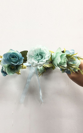 Summer Floral Headband in Green by CY Boutique