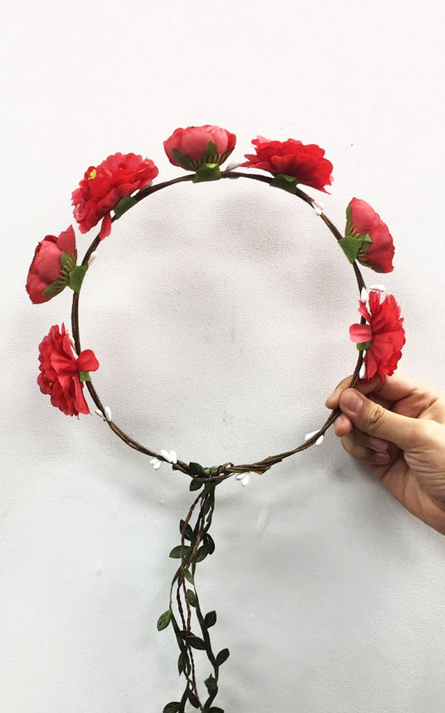 Summer Floral Headband in Red by CY Boutique