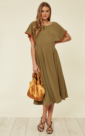 Jenny Kimono Midi Dress In Khaki by Bright & Beautiful Product photo