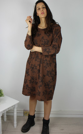 Vintage Smock T-shirt Dress in Brown Floral Print by Re:dream Vintage