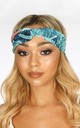 Turquoise Tropical Print Fabric Headband by Dressed In Lucy