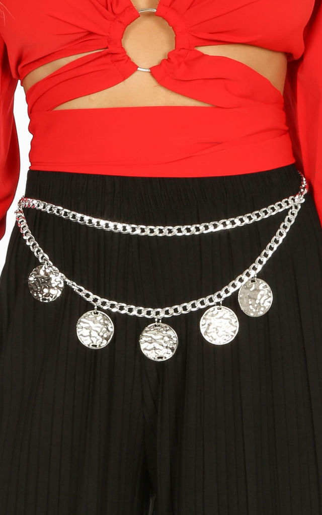 Silver Coin Chain Belt by Dressed In Lucy