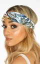 Blue Tropical Print Fabric Head Band by Dressed In Lucy