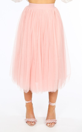 Midi Tulle Skirt In Pink by Dressed In Lucy