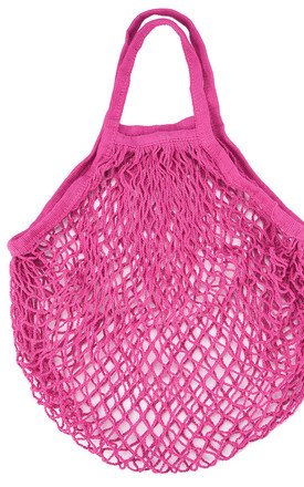 Pink Net Shopper Bag by Helix and Felix