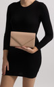 Mila Nude Faux Leather Envelope Bag by KoKo Couture