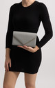 Mila Grey Faux Leather Envelope Bag by KoKo Couture