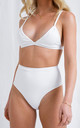 Leola Triangle Bikini Top - White by Pretty Lavish