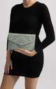 Dido Mint Laser Cut Envelope Clutch by KoKo Couture