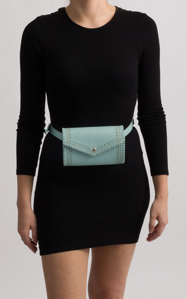 Karlie Mint Envelope Convertible Bum Bag by KoKo Couture