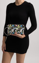 Spring Black Floral Clutch Bag by KoKo Couture