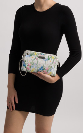 Spring White Floral Clutch Bag by KoKo Couture