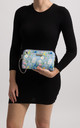 Spring Blue Floral Clutch Bag by KoKo Couture