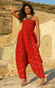 Harem Jumpsuit And Hareem Pants Cotton 2 In 1 Jaipur Print by likemary