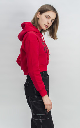 Happiness is a B***h Slogan Hoodie in Red by Alice's Lips