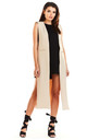Maxi Loose Vest in Beige by AWAMA