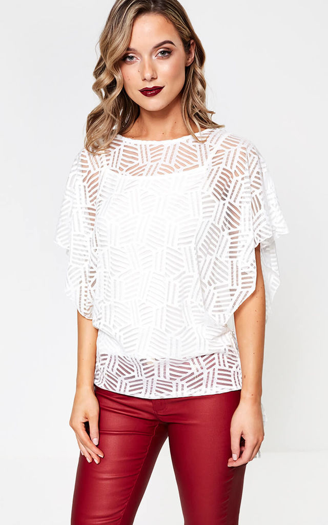 Oversized Top in White by Marc Angelo