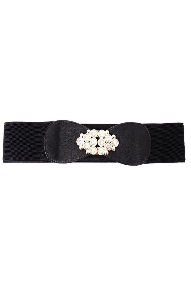 Diamante Eye shape Wide Waist Belt by Urban Mist