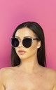 Too Good For That Oversized Winged Sunglasses in Black by Shock X Shelby