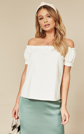Off The Shoulder Top In White by VM Product photo