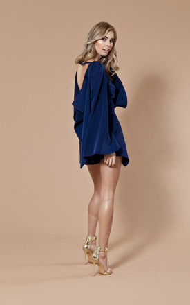 Polly Playsuit Navy Seals by Rebecca Rhoades