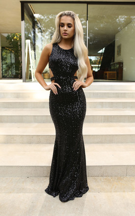 Danielle Sequin Evening Maxi Cut Out Detail Gown by Naked Dresses Product photo
