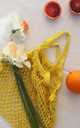 Yellow Net Shopping Bag Tote by Helix and Felix