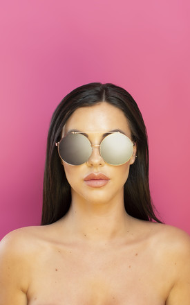 Just Sayin' Oversized Metallic Sunglasses Silver by Shock X Shelby