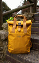 Personalised Roll Top Backpack in Mustard by Peggy and Sam
